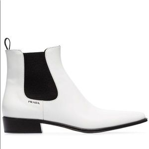 Prada Leather Chelsea Ankle Boots